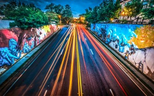 Graffiti murals on Chamblee-Dunwoody Road in Chamblee Georgia